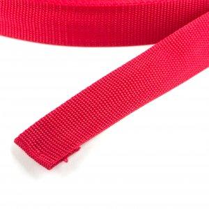 50 Meter Polypropylen Gurtband 15mm Breit Farbe: Rot