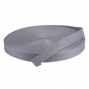 50 Meter Polypropylen Gurtband 25mm Breit Farbe: Grau