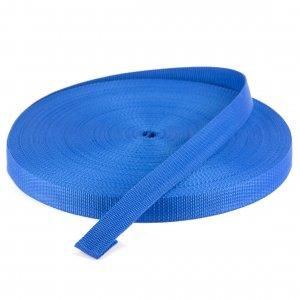50 Meter Polypropylen Gurtband 25mm Breit Farbe:Blau