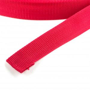 50 Meter Polypropylen Gurtband 25mm Breit Farbe: Rot