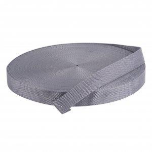 50 Meter Polypropylen Gurtband 40mm Breit Farbe: Grau