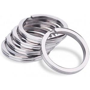 10 - 1.000 Stück wählbar Schlüsselringe Flach 30mm Standard vernickelt Design Schlüsselring