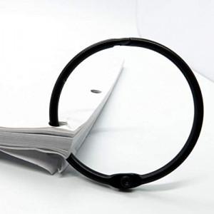 20 Stück Heftringe Schwarz 14mm Innendurchmesser stahl Schwarz 20 Stück